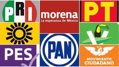 Los suspirantes, partidos políticos, logos