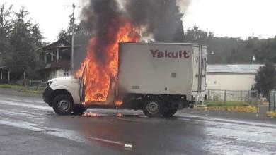 CNTE,quema vehículos