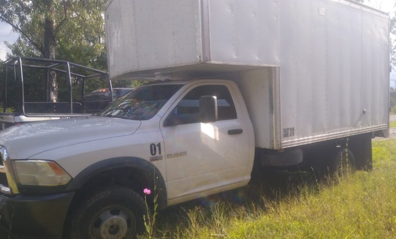 camioneta asegurada