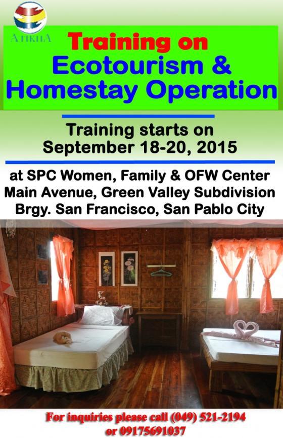 Training on Ecotourism & Homestay Operation