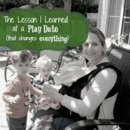 The Lesson I Learned at a Play Date (that changes everything)