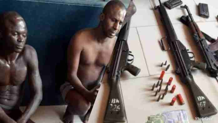 PHOTOS: Armed robbers beat up 2 military officers, 1 policeman and seize their guns