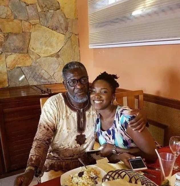 Ebony Reigns and her father starboy Kwarteng