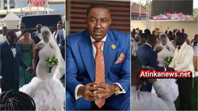 Lovely video drops as Osei Kwame Despite's daughter marries in a grand style