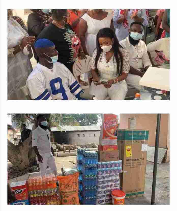 Nana Ama McBrown donate to Emmanuel Armah
