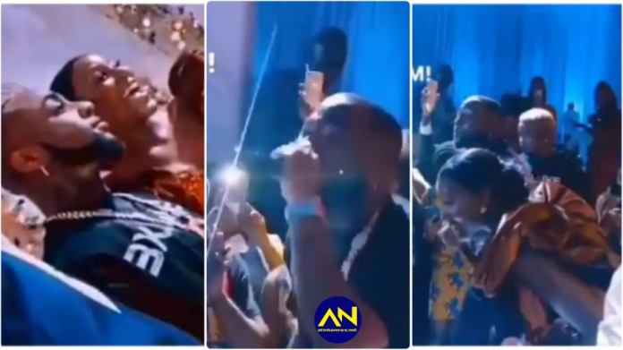Davido crashed a wedding in Ghana