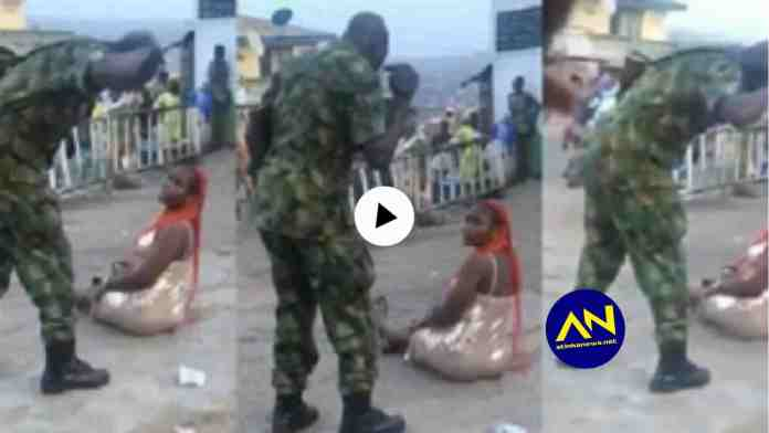 Soldier flogs slay queen