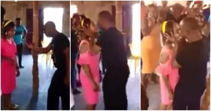 pastor kissing members during deliverance