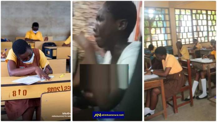 """Mon checki ni biom"" - JHS graduate cries in video over BECE results slip"