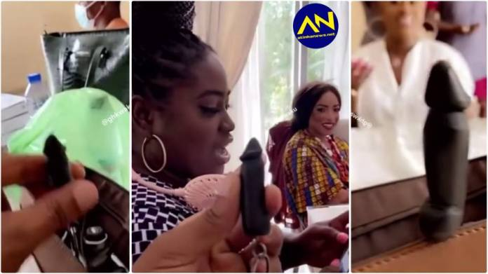 Actress Lydia Forson causes stir on social media with her weird keyholder [Watch]