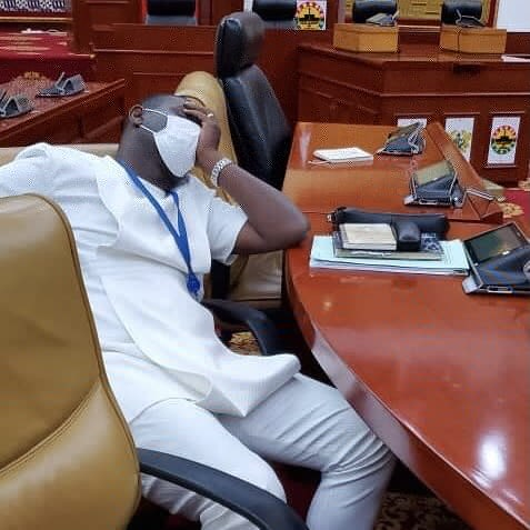 NPP MP's sleeping in parliament