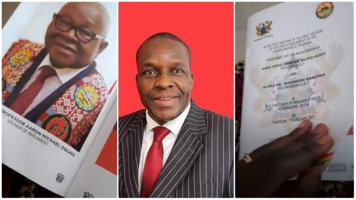 Mike Oquaye appears in inauguration brochure as speaker of parliament [Video]