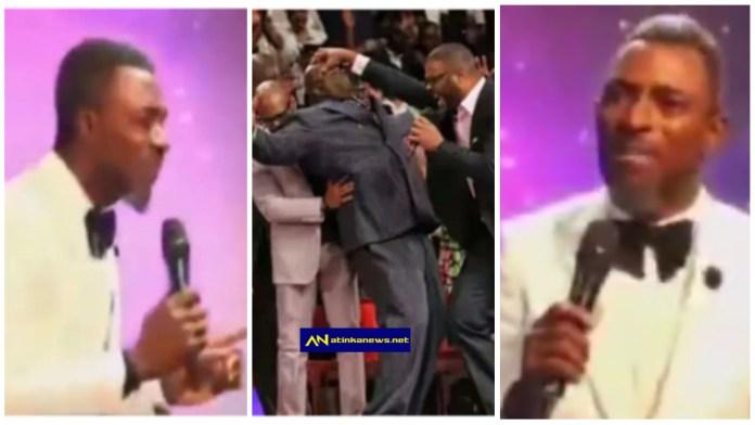 Pastor warns members falling under anointing