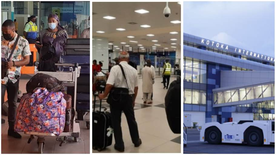Passengers stranded at Kotoka International Airport as staff withdraw  services <p data-wpview-marker=