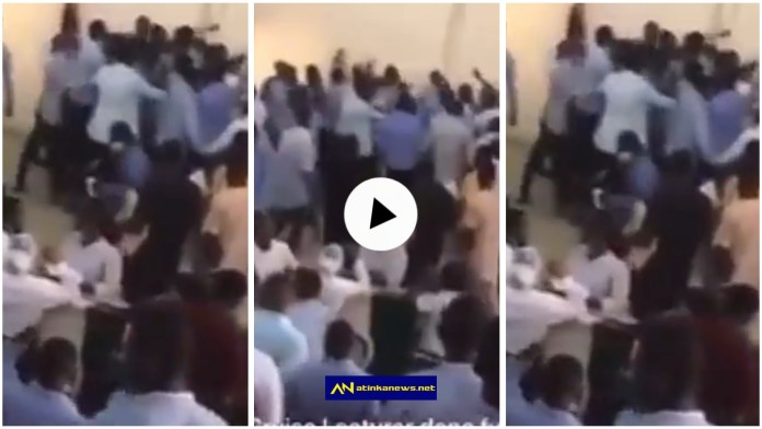 Students beat lecturer for collecting answer scripts