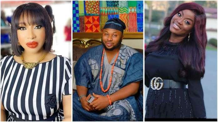 Nollywood actress Tonto Dikeh and ex-husband Churchill