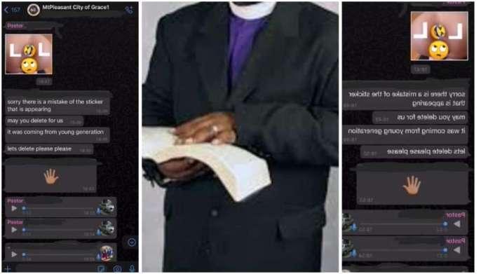 Drama ensues as pastor posts a ɳⱭk£d sticker in church WhatsApp group