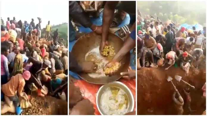 villagers discover mountain of gold in Congo