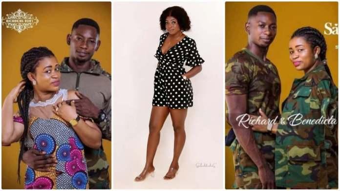 Ghanaian soldier dumps his girlfriend Comfort Bliss