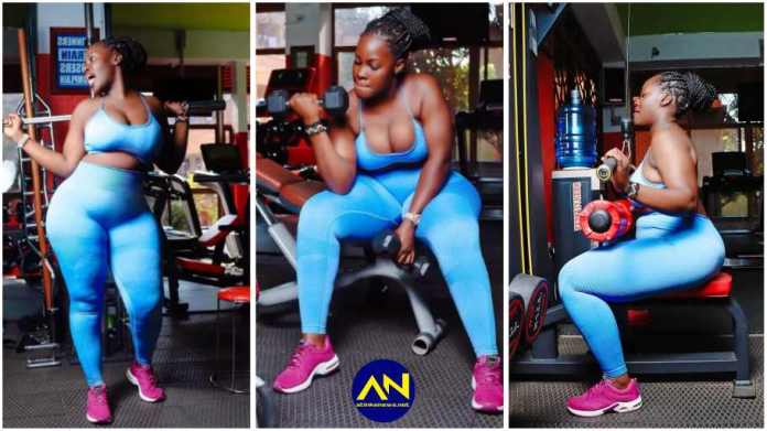 Lady captured working out in a gym left men scratching their heads