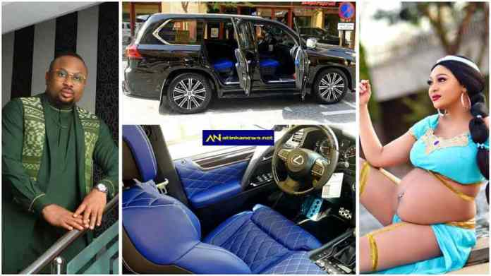 New mother Rosy Meurer receives Lexus ride as push gift from Olakunle Churchill
