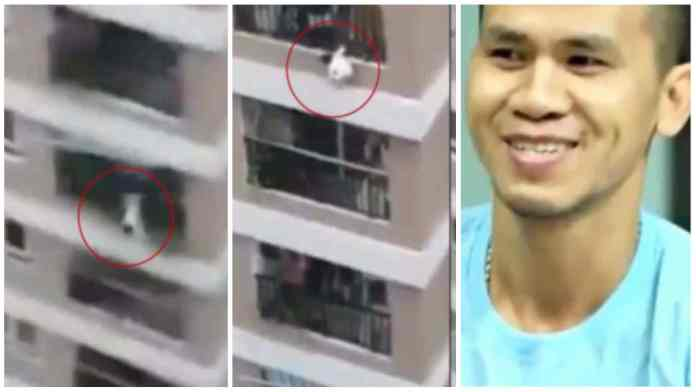 Delivery guy saves the life of a Toddler who fell from 12th Storey Balcony