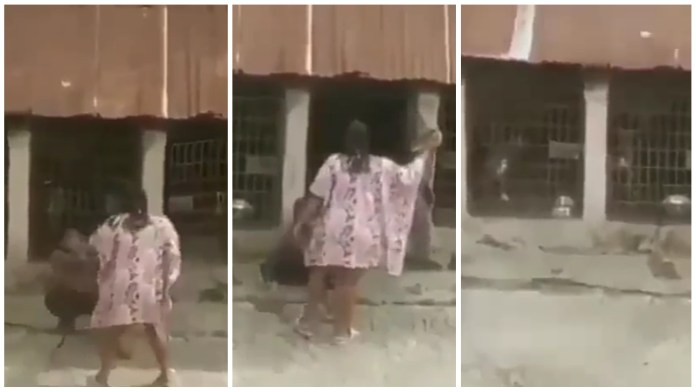 woman caught flogging her stepson