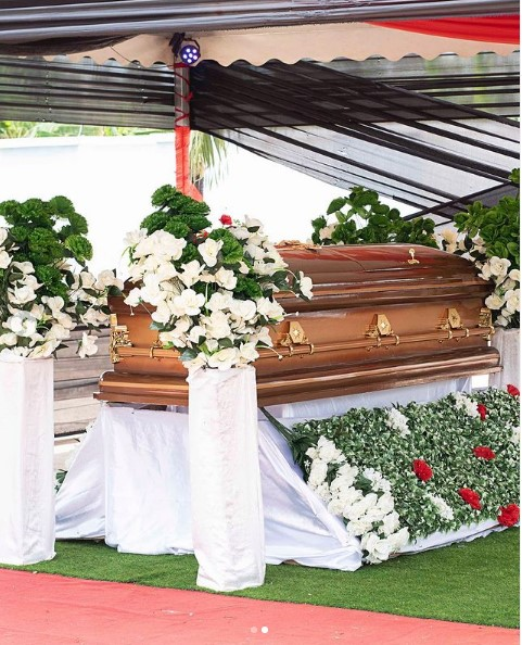 Eddie Nartey makes bold statement after the burial of his wife, drops emotional photos 2