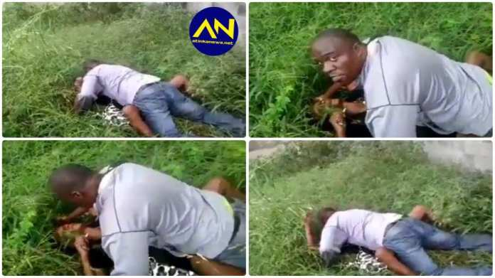 Couple busted having s_x in the bush in broad daylight, video goes viral