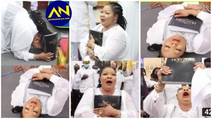 moment deliverance session was held for Nana Agradaa