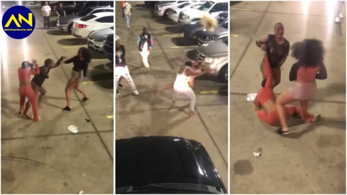 slay queens fight dirty in a parking lot