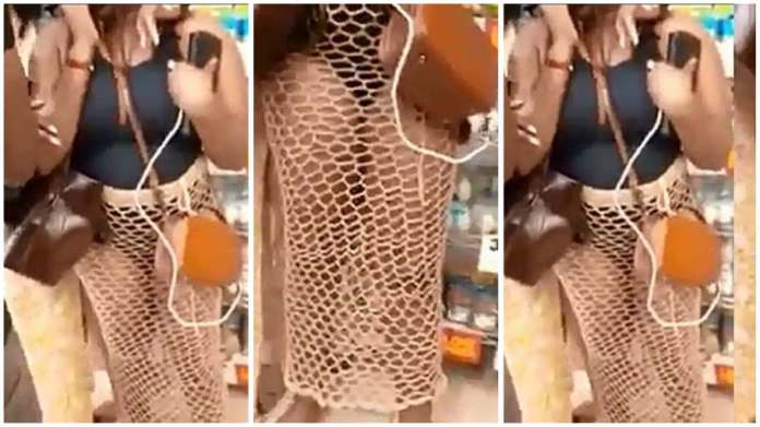 Woman heavily attacked for wearing a revealing outfit