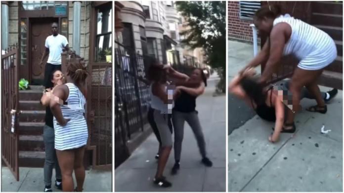 Lady beats her l£sbian girlfriend