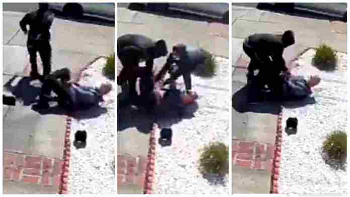 Elderly Asian man, 80, cries for help as he's attacked by teenagers in San Francisco [Video]