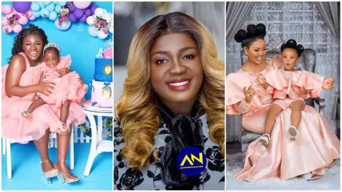 Tracey Boakye busted for imitating Nana Ama Mcbrown & baby Maxin in new photos