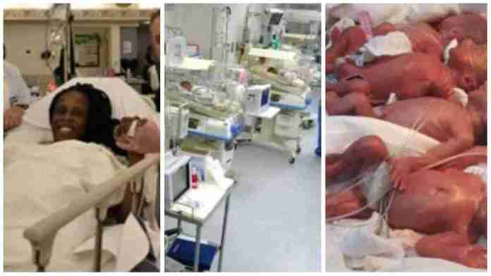 Woman enters world record after giving birth to 9 children at once