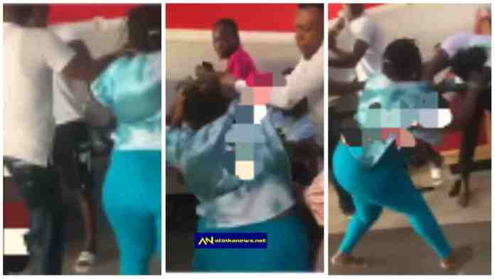 woman trade blows with her husband