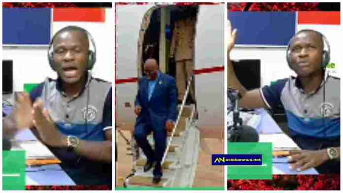 Any expensive Jet that will carry Prez Nana Addo again should crush & k!ll him – Presenter says [Video]