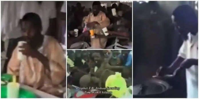 Old video of TB Joshua cooking & serving water to church members warms hearts [Watch]