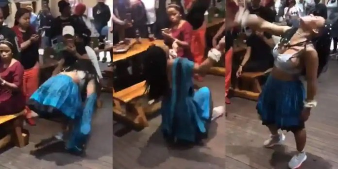 Lady drops jaws with her crazy dance moves