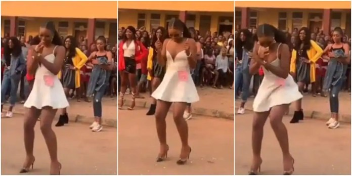 Lady wows many with amazing legwork in heels