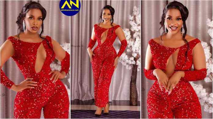 Actress Benedicta Gafah tensions social media with her red jumpsuit