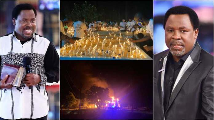 Fire erupts at Synagogue church on day 1 of Prophet TB Joshua's funeral [Video]