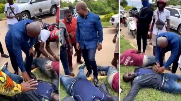 John Mahama cuts short trip to help victims of motorbike accident [video]