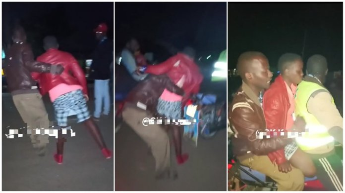 Man bundles lady on a bike after he bought her drinks and refused to spend the night with him [video]