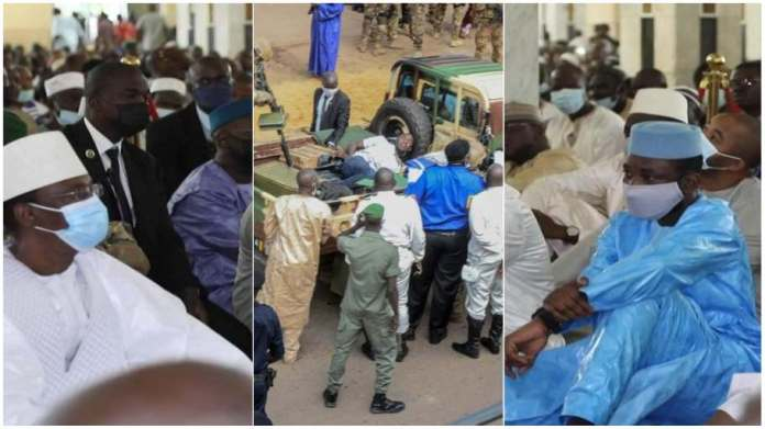 Moment Mali's President was attacked with a knife during Eid prayers [video]