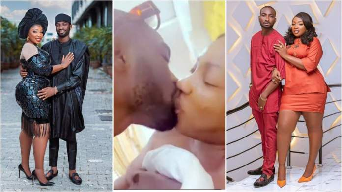 Nollywood actress Anita Joseph lock lips with husband in latest bedroom video [watch]