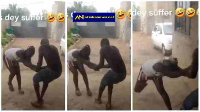 H0rny guy drags a lady to go and chop after spending enough on her [Watch]