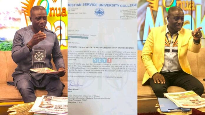 Captain Smart in trouble as Justice Kweku Annan exposes Captain Smart's fake degree