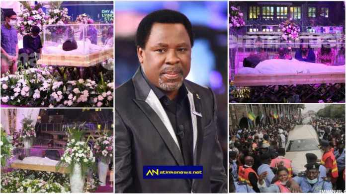 Prophet TB Joshua laid in state at Synagogue Church of All Nations [Watch]